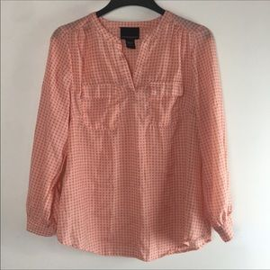 Cynthia Rowley Orange Graphic Blouse